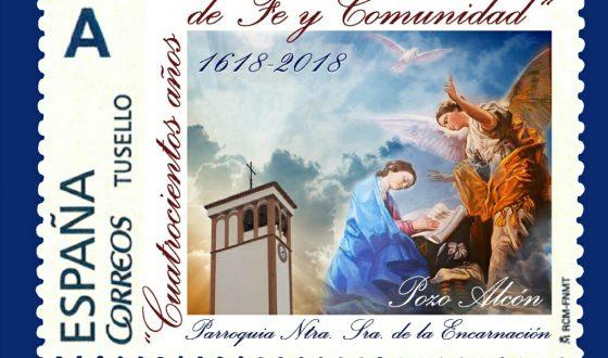 El IV centenario de la Parroquia de la Encarnación tiene un sello conmemorativo