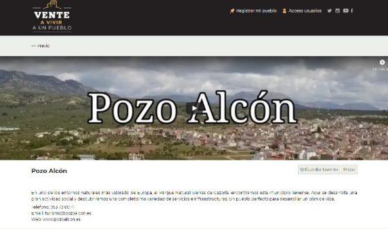 Pozo Alcón en la plataforma «Vente a vivir a un pueblo «
