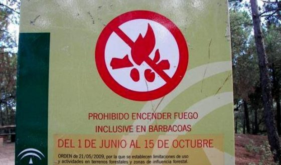 Prohibido encender fuego en zonas forestales